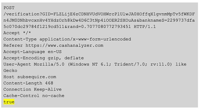 BokBot Proxy: Bot API sends Type 96 validation code