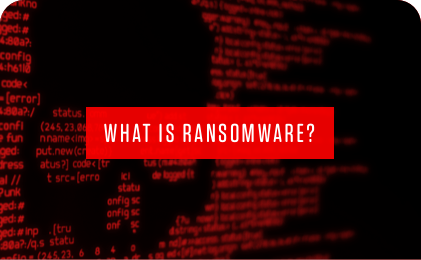 what is ransomware red banner graphic.