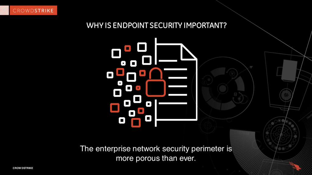 graphic demonstrating how porous network security can be
