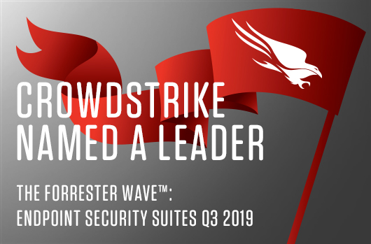 CrowdStrike Banner for Forrester Wave for Endpoint Security Suites Q3 2019
