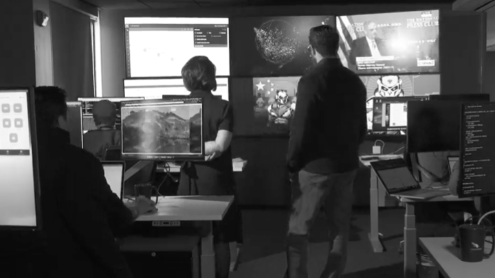 threat hunting experts watching falcon dashboard