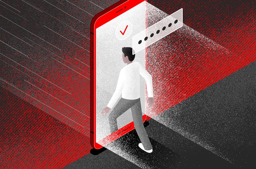person entering door