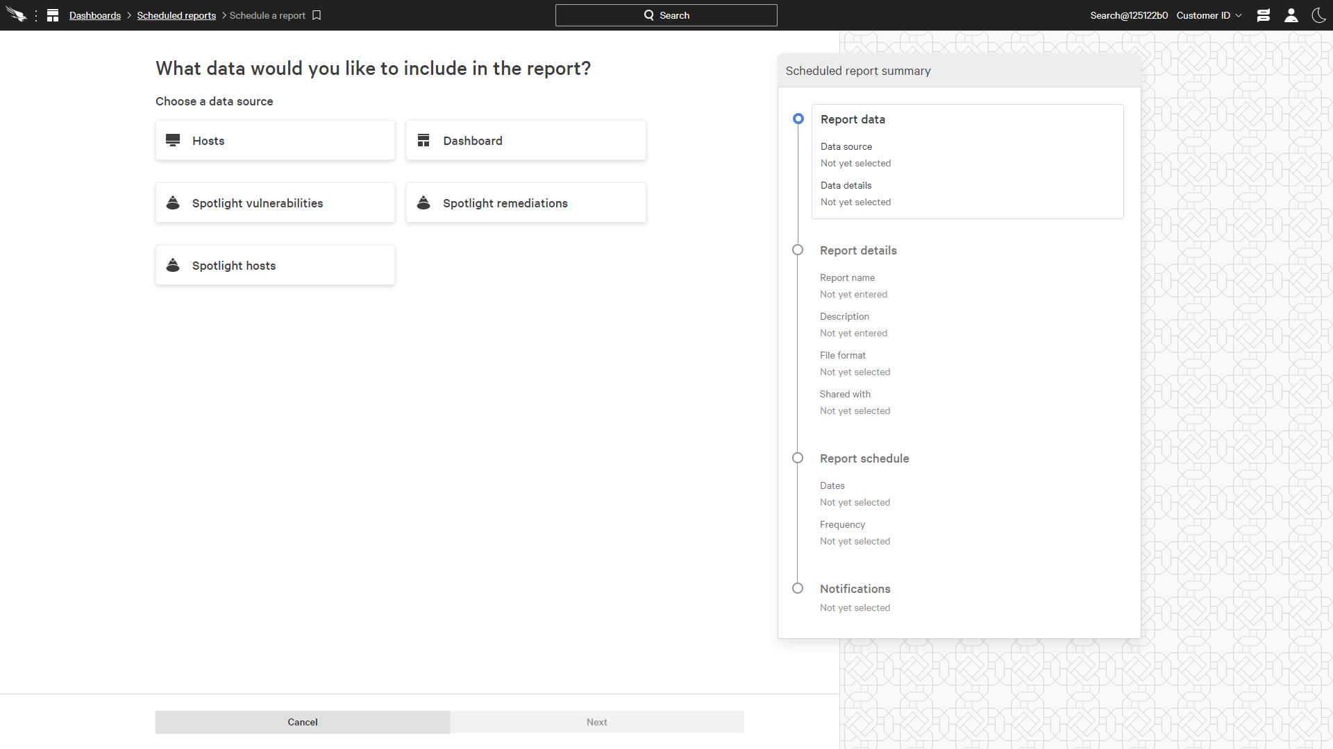 Create Scheduled Report
